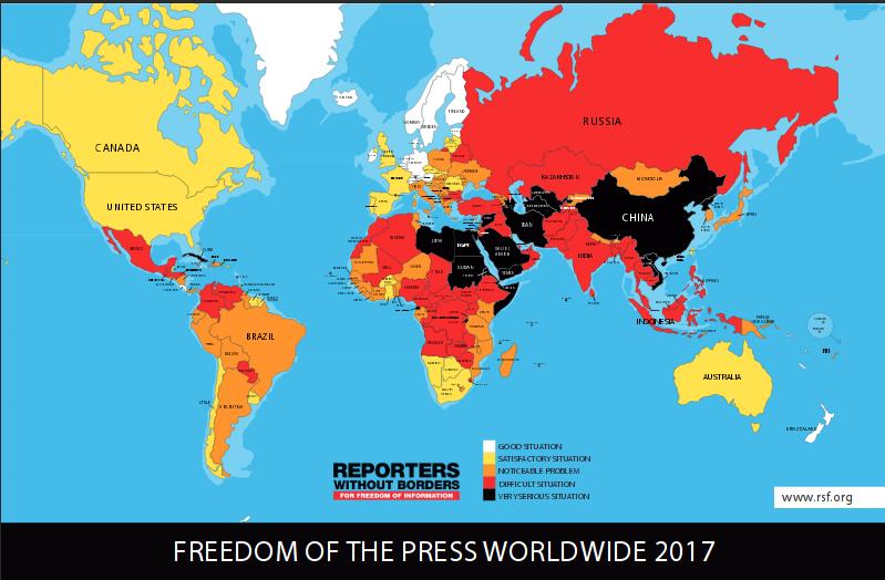 Cartina Guerre Nel Mondo.Guerre Nel Mondo Classifica Liberta Di Stampa Nel Mondo